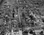 Aerial view of Oberlin College campus, 1958