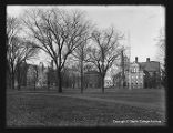 Warner Hall, Cabinet Hall and Peters Hall, ca. 1886
