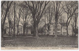 Postcard view of Oberlin College campus, ca. 1910-1920s