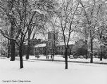 Snow scene with Finney Chapel, March 1959