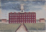 Oil painting of Tappan Hall, ca. 1838-41