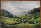 Untitled (village and the Vosges mountains in the Ban de la Roche, Alsace, France)