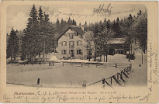"Picture postcard of the ""forest house"" near Bellefosse with message, 1905"