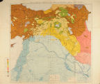 Map showing ethnography of Eastern Turkey, published 1910 with added political boundaries as of...