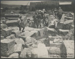 Commission members at Tell Huru, the ruins of the Capernaum synagogues