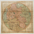 New and Accurate Map  of the Country for Twenty-five Miles round the University of Oxford,...