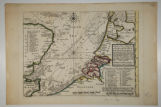 A Chart of Part of the Seacoast of England, Holland & Flanders &c. shewing the sands,...
