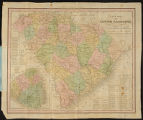 A New Map of South Carolina with its Canals, Roads & Distances from place to place along the...