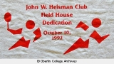 Heisman Club Field House dedication T-shirt