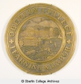 Seal of Oberlin College bronze plaque