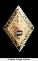 Alumni lapel pin and Ladies' Literary Society lapel pin