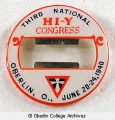 3rd National Hi-Y Congress badge