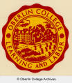 "Oberlin College ""Learning and Labor"" sticker"