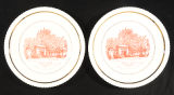 Oberlin 125th Anniversary plates (2)