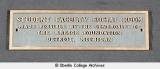 Kresge Lounge bronze plaque