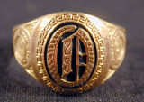 Oberlin College class ring and pins