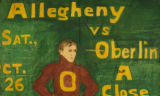 Allegheny vs. Oberlin football game banner