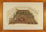 Presentation drawing for Carnegie Library reading room