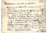 MEMORANDA OF THE EXPENSES OF THE KEEP-DAWES MISSION IN DAWES' HANDWRITING