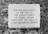 JOHN FREDERICK OBERLIN MEMORIAL IN WESTWOOD CEMETERY, OBERLIN, OHIO