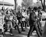 VIETNAM WAR PROTESTORS ON THE CAMPUS OF OBERLIN COLLEGE IN 1967