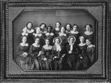Young female graduates of the class of 1855