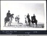 New Year's Day 1920, Henry H. Riggs, Mary W. Riggs and Frances C. MacDaniels on horseback